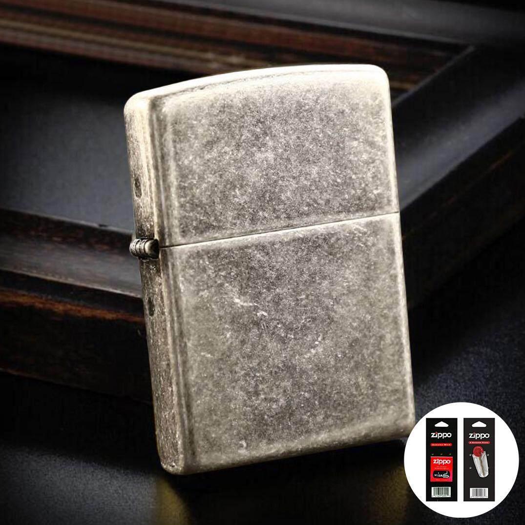 Classic Antique Silver Plate 121FB Zippo Lighter