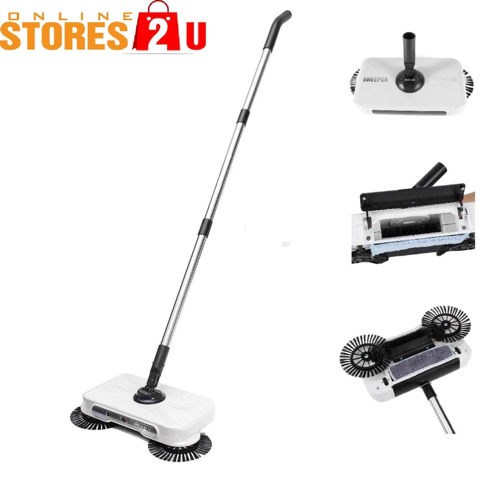 [Stores2u] 3in1 Automatic Smart Sweeper Dustpan Hand Push Magic Sweeping 3 in 1 Broom, Dustpan and Trash Bin For Cleaning Floor