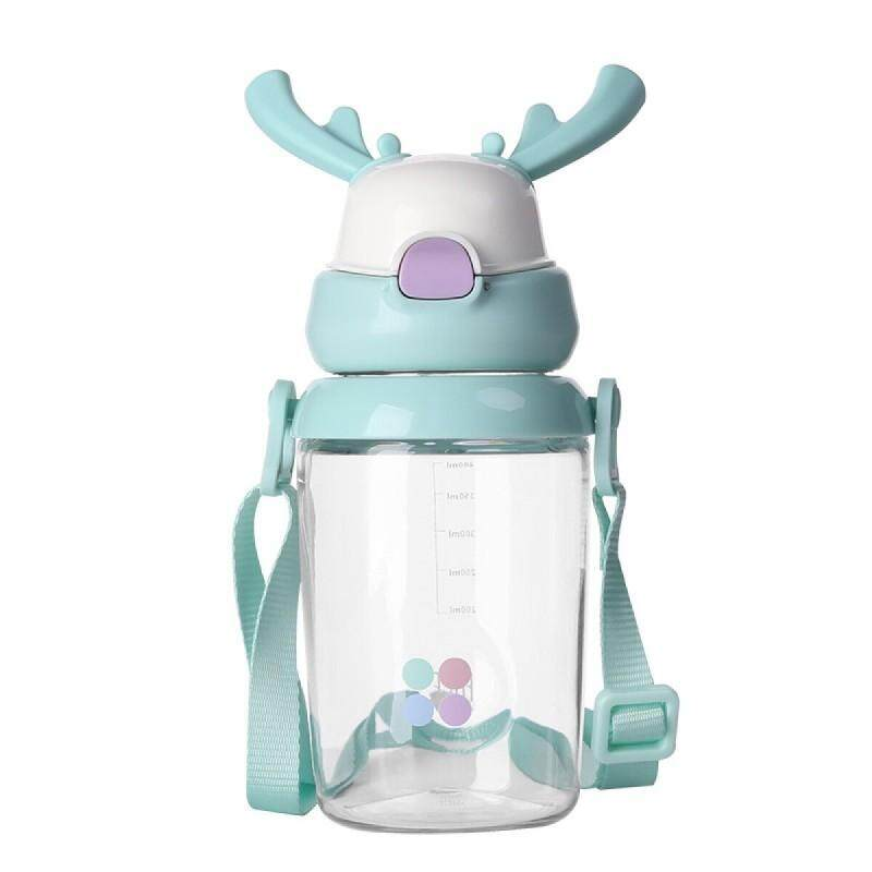 FACE Deer 450mL Baby Kids Tritan Drinking Water Bottle Trainer With Handles and Strap FREE GIFT