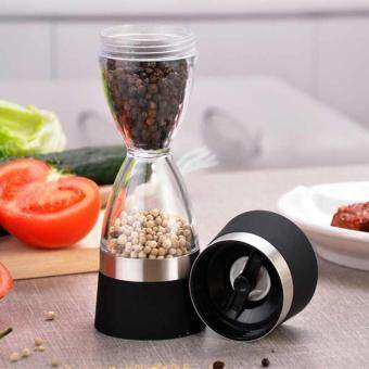 2 in 1 Manual Pepper Shaker Salt Spice Mill Grinder HourglassDesign Outdoor