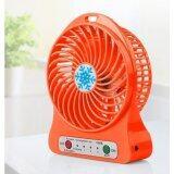 Portable Handy Mini Fan With LED Light(orange)