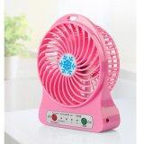 Portable Handy Mini Fan With LED Light(pink)