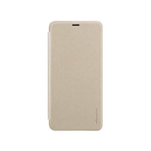 Nillkin Leather Case Sparkle Series Super Thin Flip Cover for Xiaomi Redmi S2 (Grey/Gold)