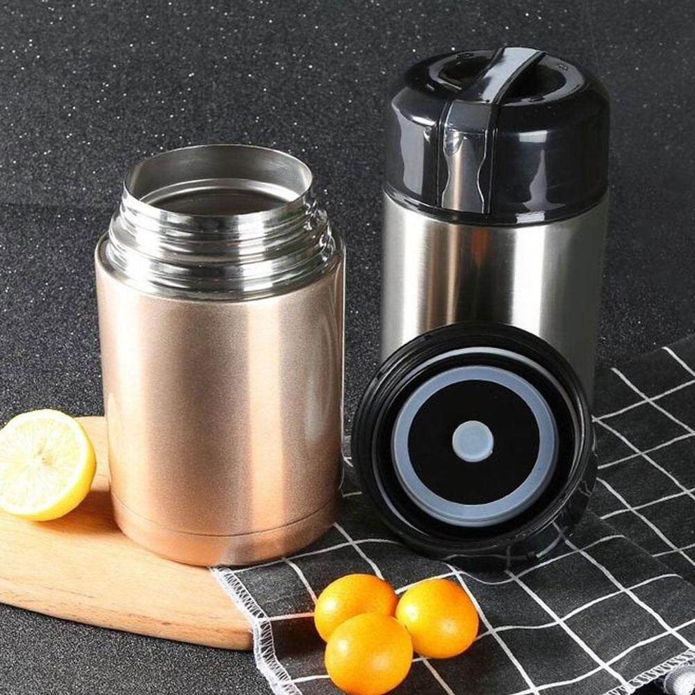 DELLY KOREA 1000ML THERMOS FOR FOOD WITH CONTAINERS STAINLESS STEEL VACUUM LUNCH BOX THERMOS FOR SOUP RICE PORRIDGE BPA-FREE GOLD LBC-G