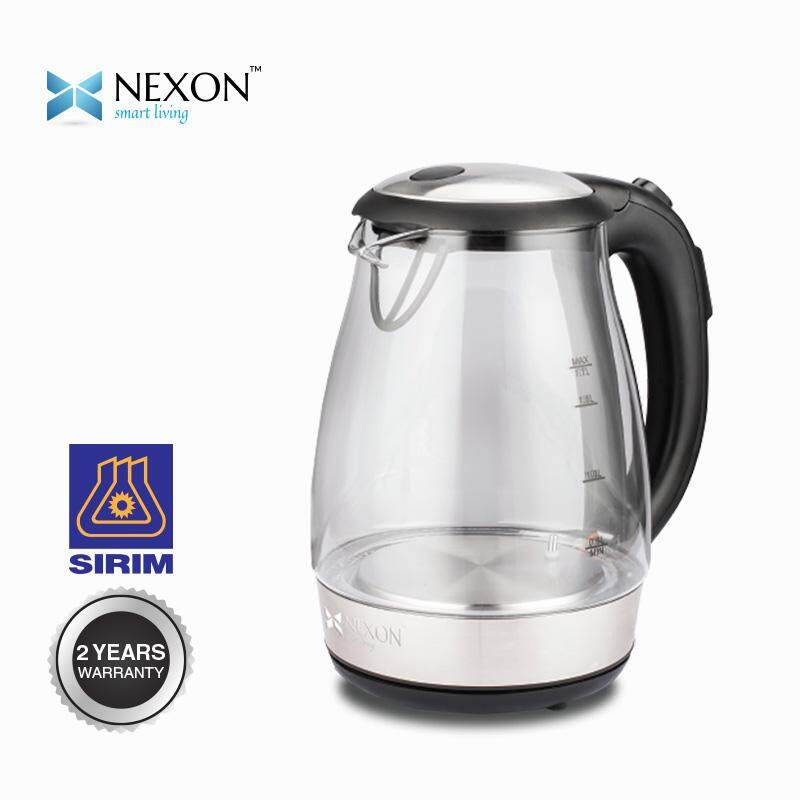 NEXON  GLASS KETTLE 1.7L WITH LED LIGHT INDICATION, WITH TEMPERATURE CONTROLLER