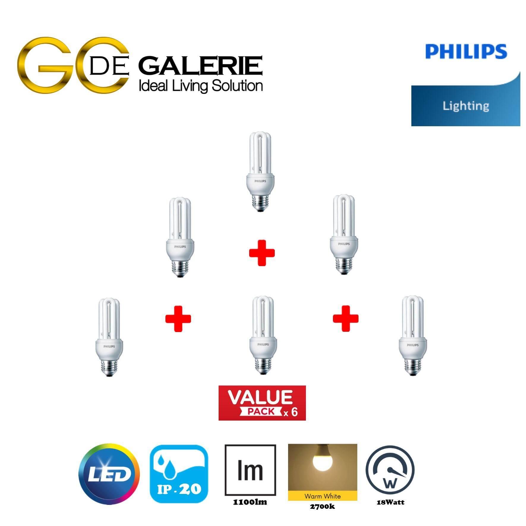 BULB PHILIPS E-SAVER 18W E27 WW (GEN2) (6 PACK)