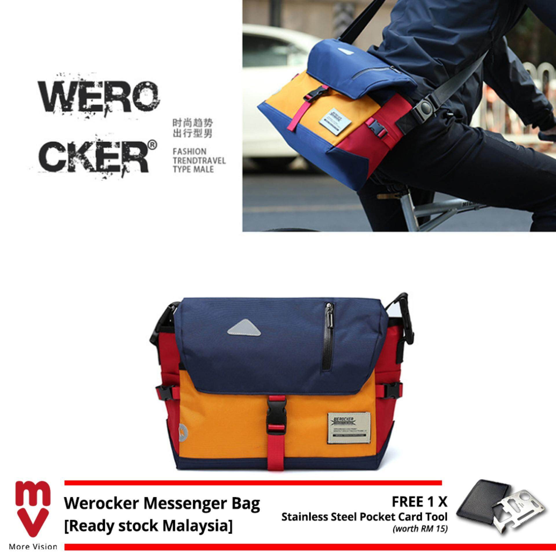 WEROCKER Flash Messenger Sling Bag Shoulder Outdoor Casual Backpack Sports MV Bag +Free Gift MI3611