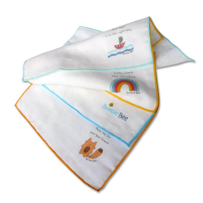 Bumble Bee Cotton Gauze Face Cloth Twin Pack