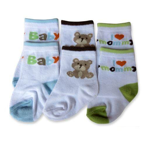 Bumble Bee 3 Pairs Pack Baby Bear Socks (S0082M)