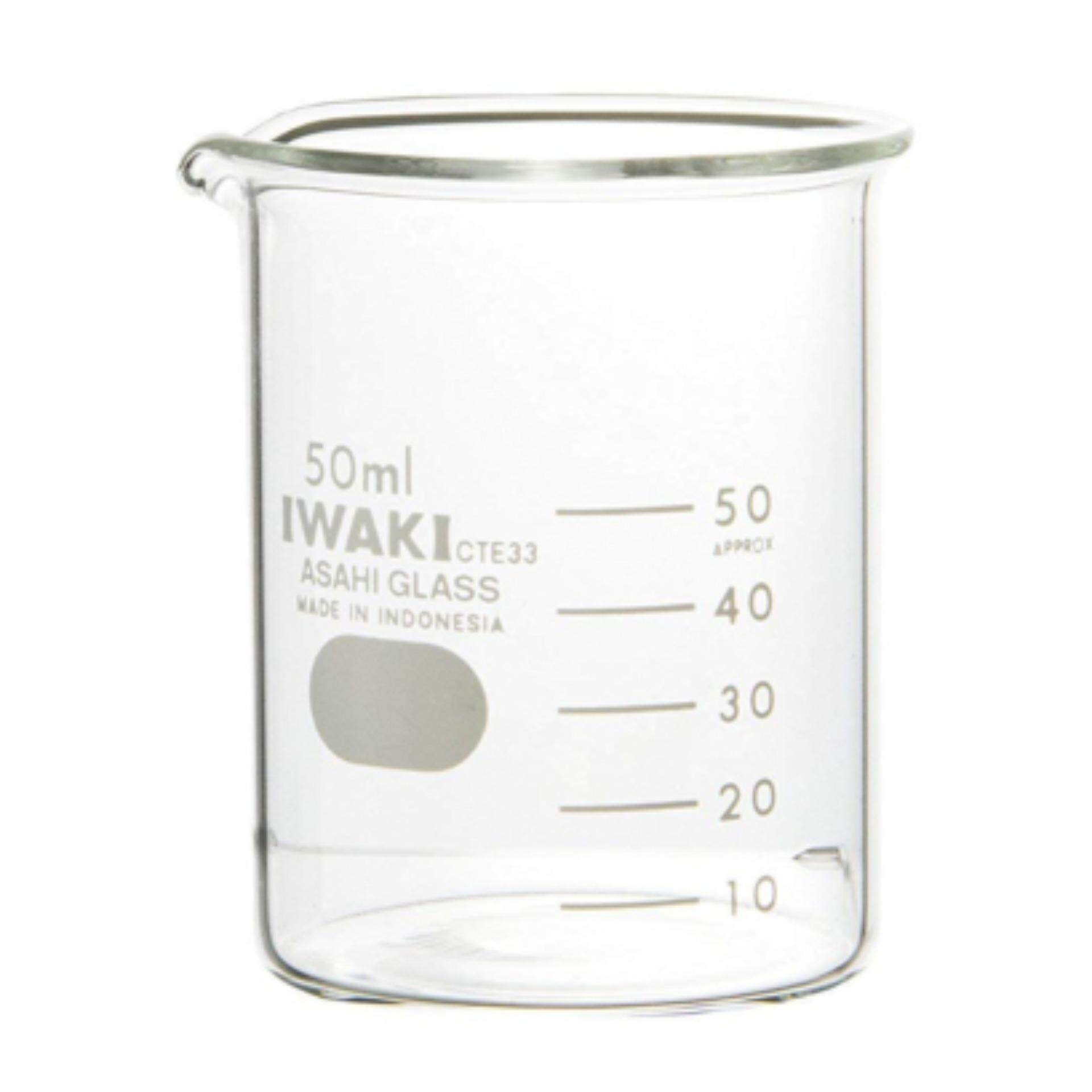 IWAKI Pyrex 50ml Glass Beaker Low Form Laboratory use