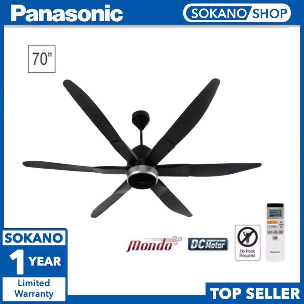"Panasonic F-M18LY 70"" 6 Blade Ceiling Fan Motion Sensor & Twin DC Mot"