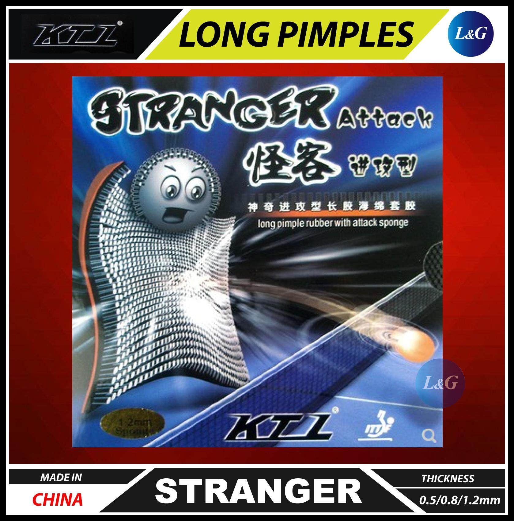 KTL Stranger Long Pimples Table Tennis Ping Pong Rubber 0.5/0.8/1.2mm Made In China ITTF Approved