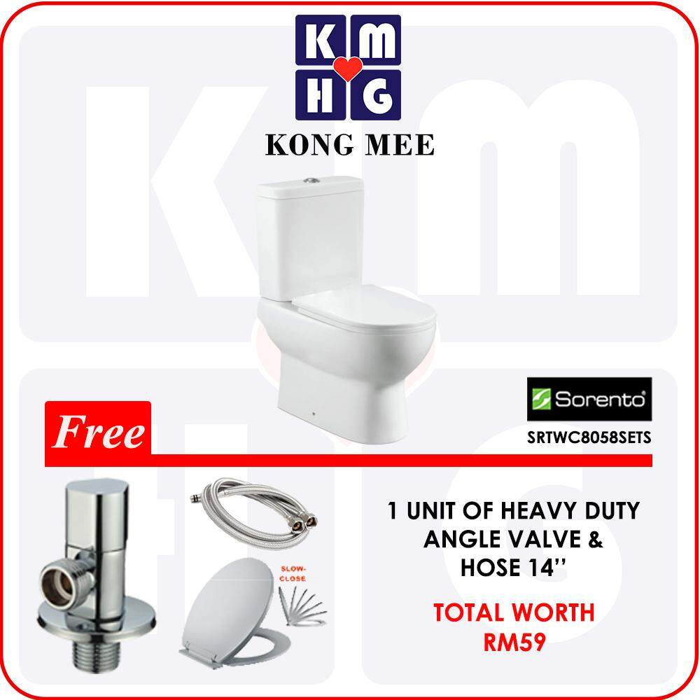 [VALUE SET] Woda Brand - One Piece Wash Down Water Closet + Mocha Brand - Stainless Steel Bidet with Two Way Tap + 16 inches High Pressure Flexible Hose  High Quality Premium Bathroom Washroom Toilet Jamban Tandas Home Furniture Fixtures Sanitary Luxury