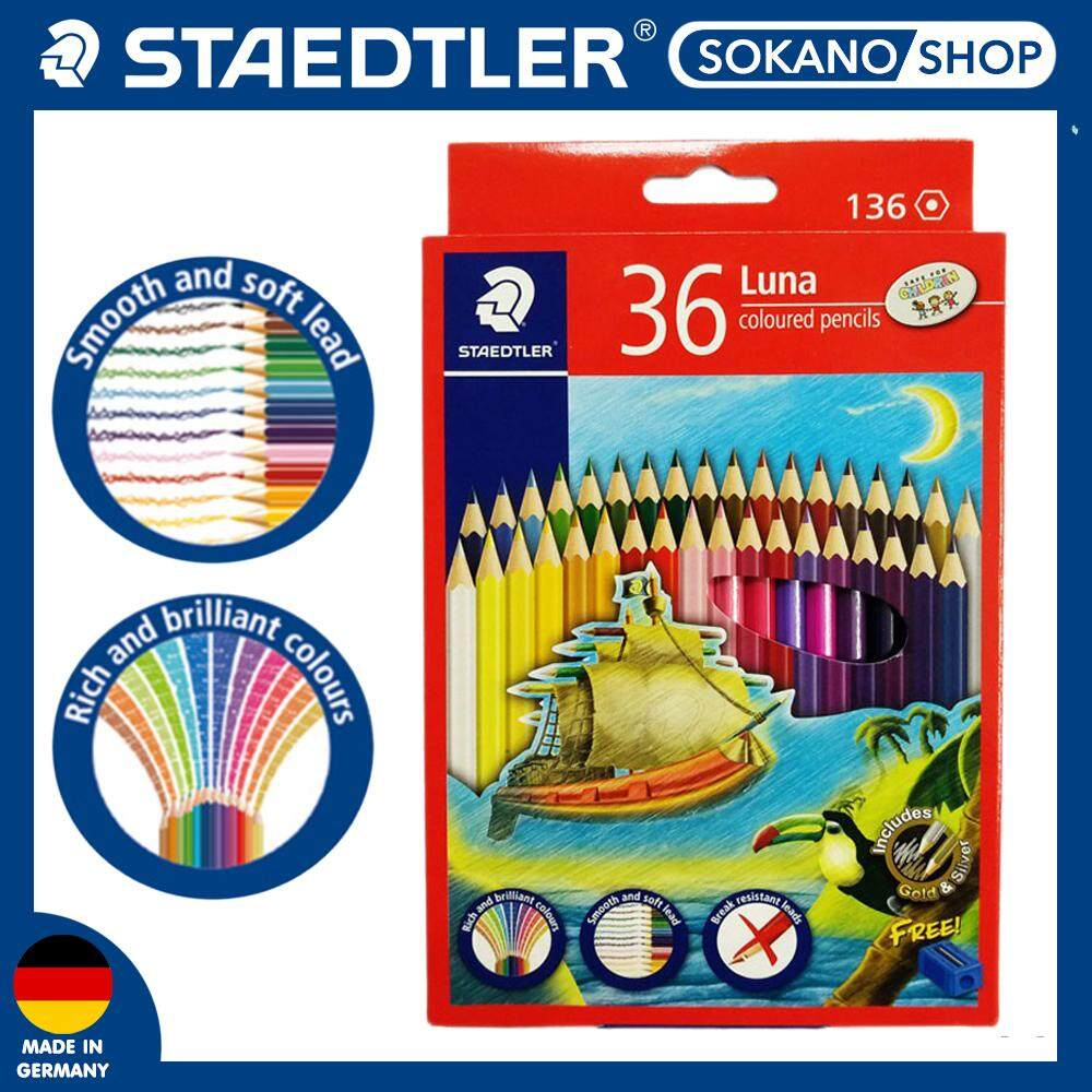 Staedtler Luna Permanent Colored Pencils 36 (Long) Colour - 136C36TH