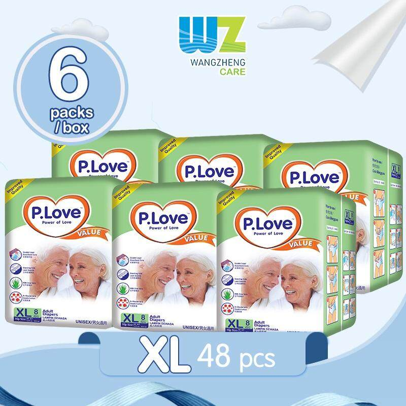 PLove Value Adult Tape Diapers XL8 x 6 Packs [WangZheng CARE]