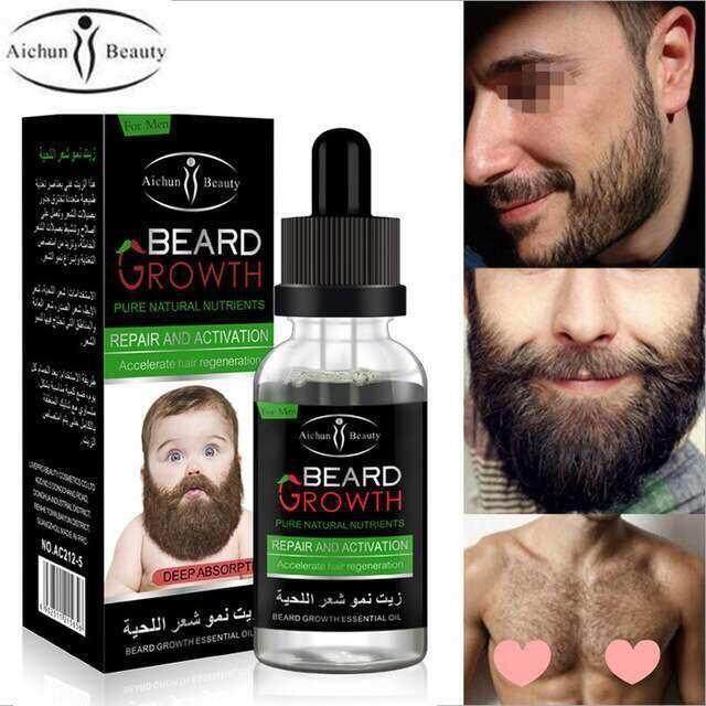 Beard Growth Oil- Pure Natural Nutrients + Gift
