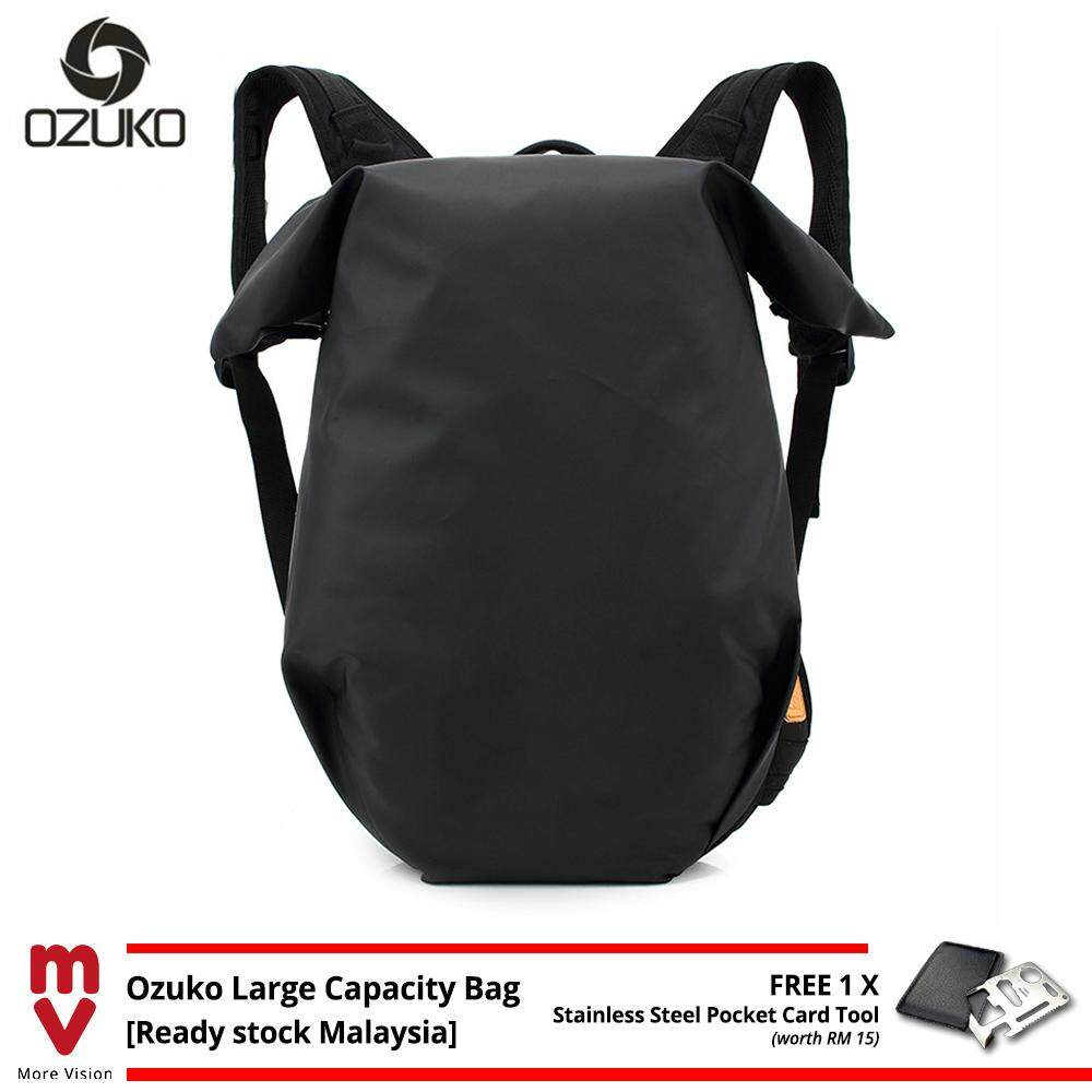 OZUKO Backpack Breathable Large Capacity Laptop Bag School Beg Men 15.6 Waterproof Travel Bagpack MI5011