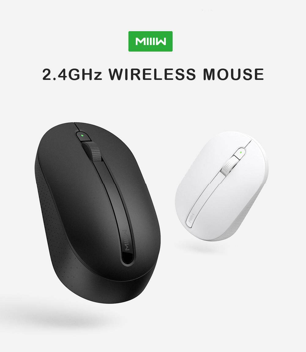 Xiaomi Youpin MIIIW Mouse 2.4GHz Wireless 1000DPI Optical Mouse with Power Light - Black