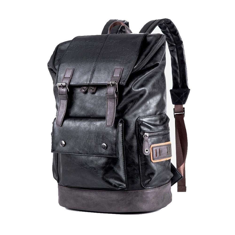 MV Bag Leather Backpack Laptop Travel Waterproof Casual Large Multi Pocket Storage Trendy Student Beg MI4791