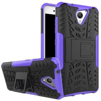 2-in-1 Tyre Pattern Kickstand PC + TPU Hybrid Cellphone Case forZTE Blade A510 - Purple