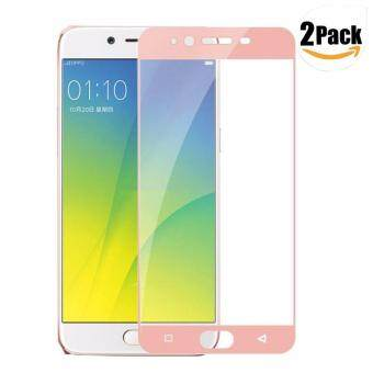 [2-Pack]LUOWAN R9s Plus Screen Protector, 3D Edge Full Coverage Tempered Glass 9H Hardness Easy Installation and Bubble Free for Oppo R9s Plus 6 Inch(Rose Gold)