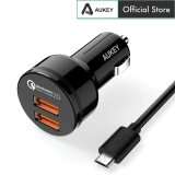 AUKEY CC-T6 36W 2 Port USB Car Charger Dual Qualcomm Quick Charge 2.0