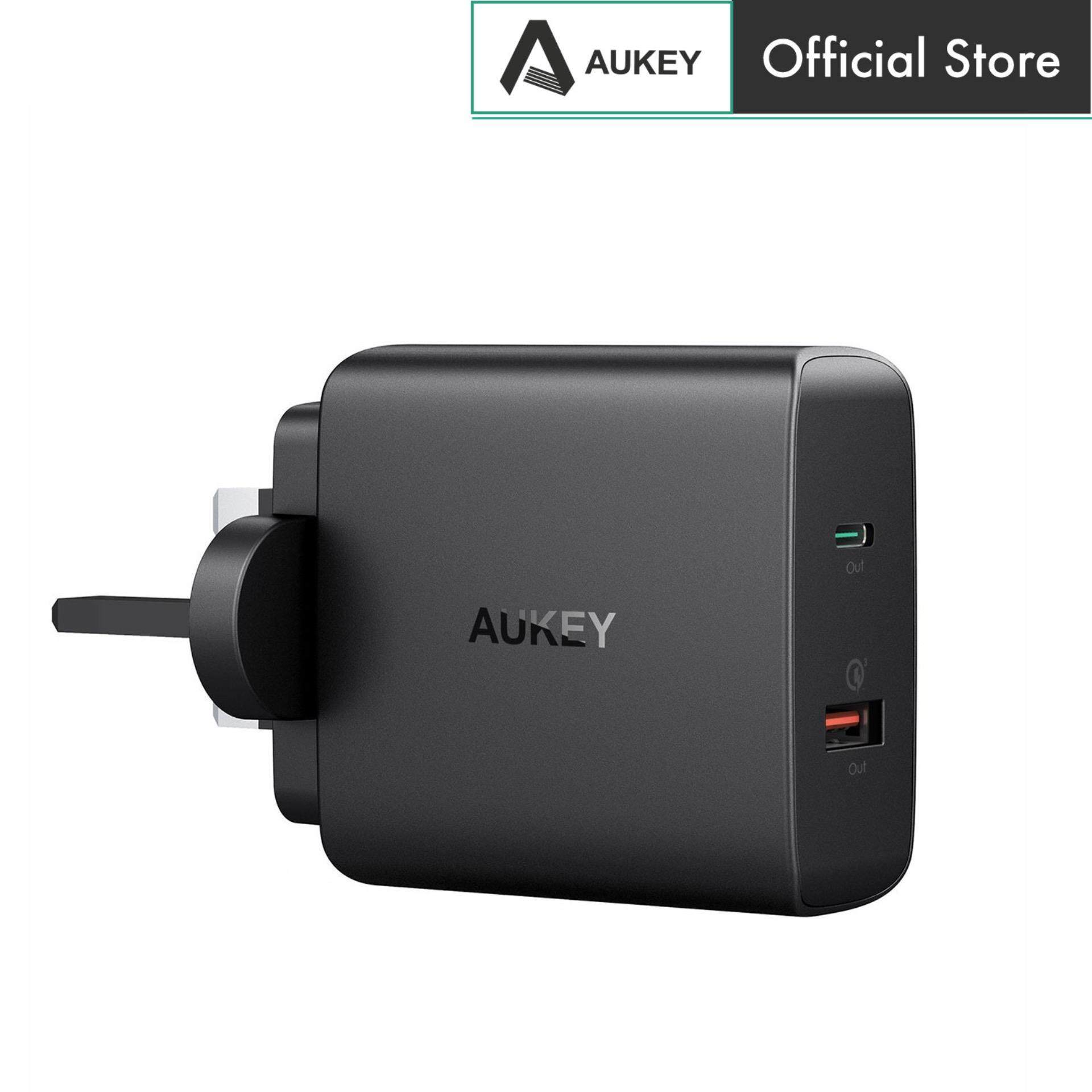 AUKEY PA-Y11 48W Power Delivery 3.0 USB C Turbo Wall Charger With Quick Charge 3.0