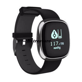 Betreasure P2 Heart Rate Blood Pressure Monitor Smart Band Activity Tracker Waterproof Bracelet for iOS and Android