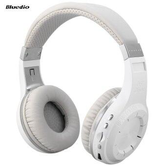 Bluedio H+ Turbine Bluetooth 4.1 Stereo Wireless Headphones Support TF Card with Mic (White)