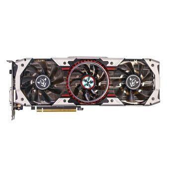 Colorful iGame GTX1080Ti Vulcan AD Video Graphics Card 1594/1683MHz11GB GDDR5X 352bit PCI Express 3.0 DirectX 12 SLI VR Ready withHDMI DP DVI Port 3 Cooling Fans