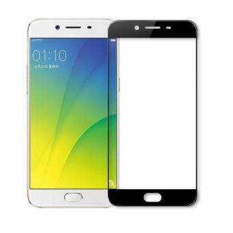 Full Covered Curved Tempered Glass Screen Protector for Oppo R9s(Black)