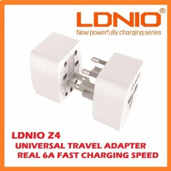 [GENUINE] 2017 LDNIO Z4 Worldwide AU UK US EU Travel AC Power Plug Universal 6A FAST Charging Adapter Plug Converter Compact SIZE Travel Companion