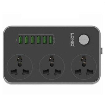 [GENUINE] LDNIO SC3604 Power Strip with 3 AC Sockets + 6 USB Ports(Black)