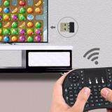 i8 Mini 2.4GHz Wireless Touchpad Keyboard with Mouse for PC, PAD, XBox 360, PS3, Google Android TV Box, HTPC, IPTV (2.4G Black)