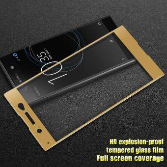 IMAK Full Size Covered Tempered Glass Screen Protector Film forSony Xperia XA1 Ultra - Gold