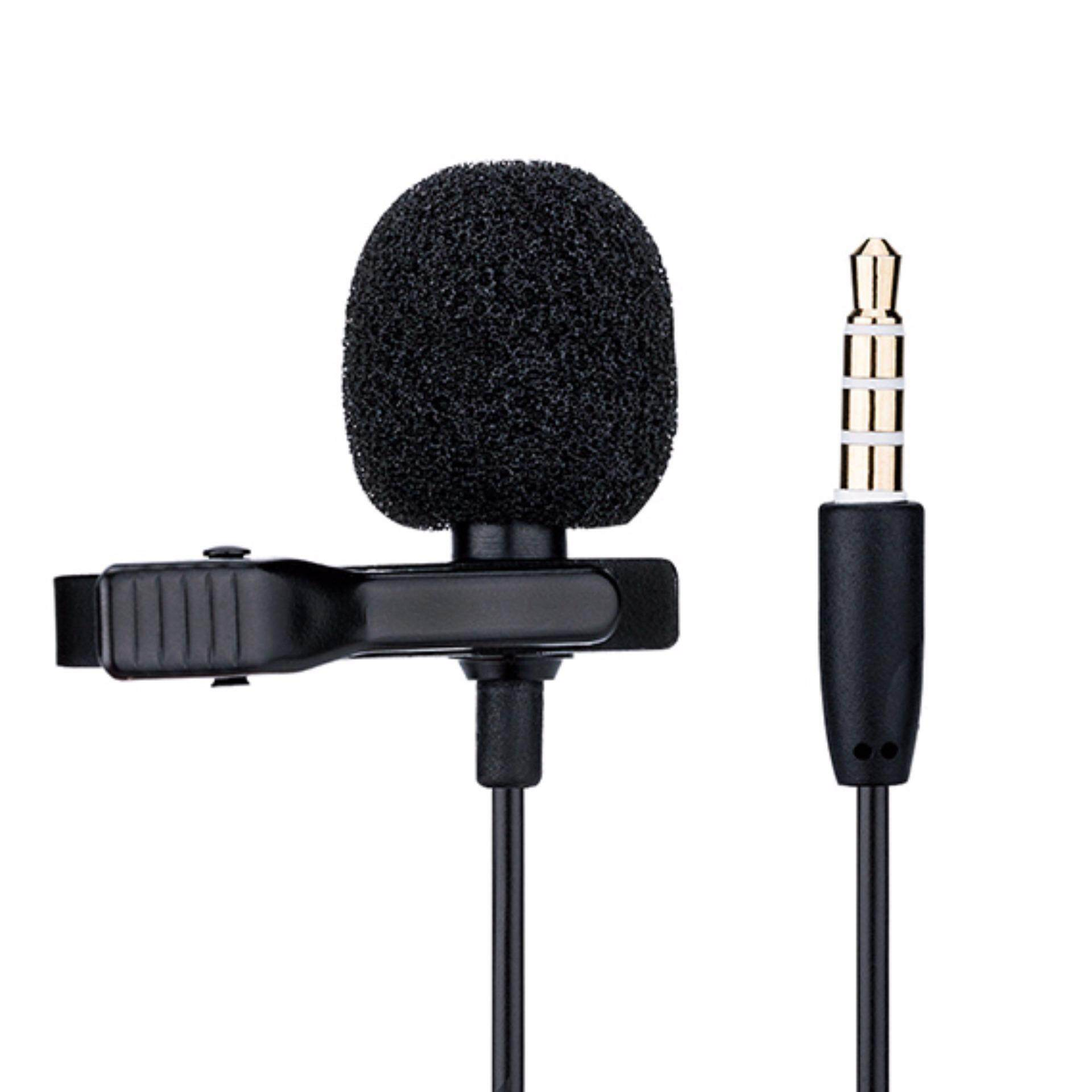 JJC Clip Mic for 3.5mm Mobile Phone Apple Samsung Vivo oppo Voice Record SGM-28 Lavalier Microphone