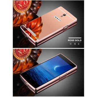 Metal mirror border Back Case Cover For Oppo Find 7 / Oppo FindX9007 (rose gold