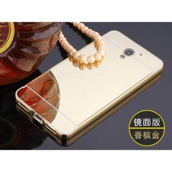 Metal mirror border Back Case Cover For ZTE Blade A510 (gold) -intl