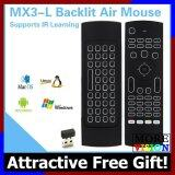 MX3-L air mouse supports IR Learning with Backlit +FREE GIFT!