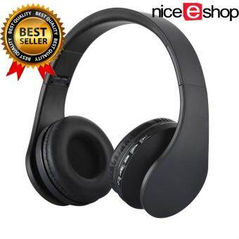 niceEshop Wireless Bluetooth Stereo Headphone Foldable EDR Earphone Mic MP3 FM Headset For Smart Phones Tablet(Black)