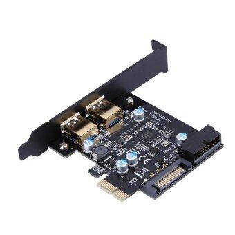 PCI-E to USB 3.0 2 Port PCI Express Expansion Card 19-Pin PowerConnector