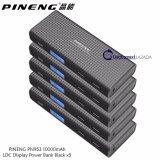 Pineng PN-953 Black 10000mAh LCD Display Power Bank with with LED Flashlight x 5Units