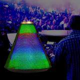 Portable Cone Shape Colorful LED Lights Pulse Bluetooth Speaker Multi-color LED