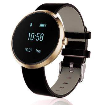 S10 Blood Pressure Heart Rate Monitor Bluetooth Activity Tracker Smart Watch Supports Android IOS (Black Gold)