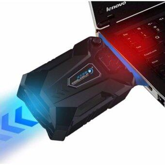 Vacuum Laptop Fan Mini Silent Laptop Cooling Vacuum Fans LED Lights Cooler Pad for 12/14/15.6/17/ Notebook/Laptop