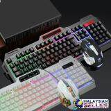 [WHITE] K38 Wired USB Gaming Rainbow LED Backlit Keyboard and  Mouse Set