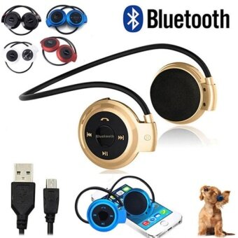 Wireless 4.1 Bluetooth Headset True HD Stereo Sound Super BassforCellphone Gold