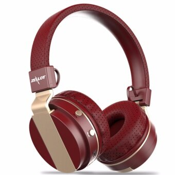 Zealot B17 Wireless Bluetooth On-Ear Headphone Fortable Stereo BassMusic Headset With Mic Support TF FM (Red)