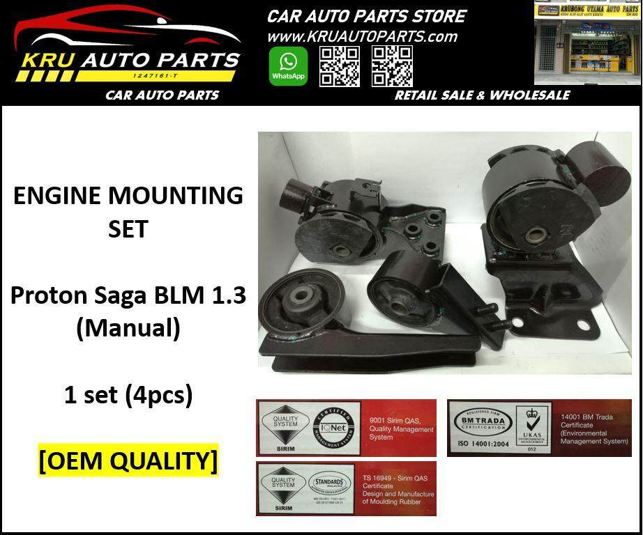 Engine Mounting Complete Set [OEM Quality] - Proton BLM 1.3 (MT)