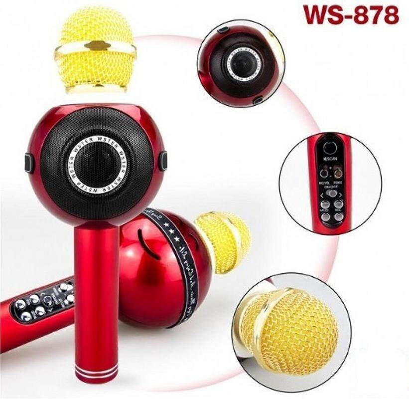 Wster Ws-878 Bluetooth High Quality Mic TF CARD LIGHT USB FM